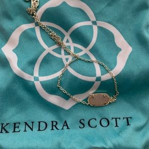 Kendra Scott Light Pink Elise Drusy Necklace